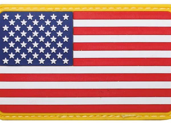 Felvarró 3D plasztik USA-0