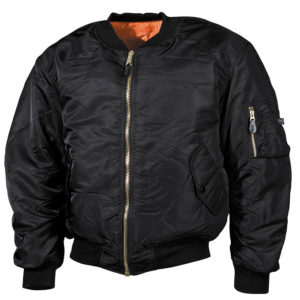 Classical US Pilot Jacket Black-0
