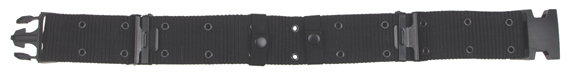 US Pistol Belt, nylon, fekete, műanyag csattal-0