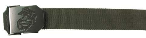 USMC Web Belt, 35 mm, OD-0