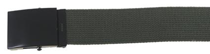 Web Belt, 45 mm, OD zöld, fekete fém csattal -0