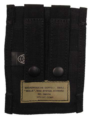 MFH Molle Dupla pisztoly tárzseb , fekete-4192