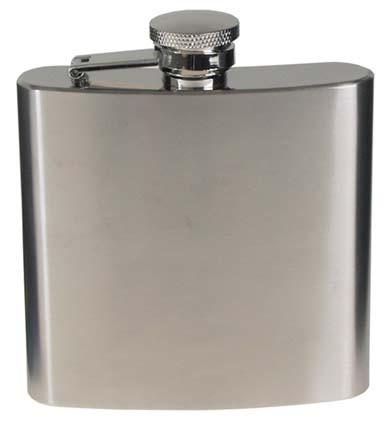 Acél flaska, rozsdamentes acél, króm, matt, 170 ml-0