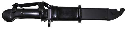 Bajonett, AK 47, tokkal, fekete markolat-4829