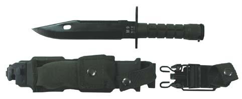 Bajonett M9, fekete pengével, műanyag-nylon- hüvely-0