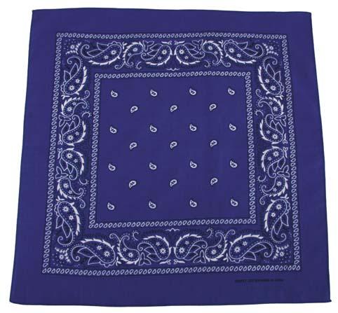 Fejkendő kék-fehér mintával -0