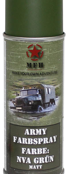 Army festék spray, NVA zöld, mat, 400 ml-0